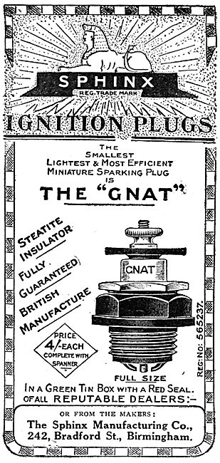 Sphinx Ignition Plugs - Sphinx Sparking Plugs 1911