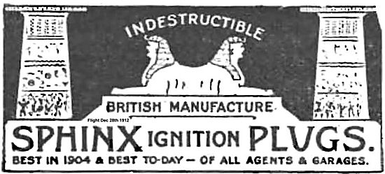 Sphinx Ignition Plugs For Aero Engines