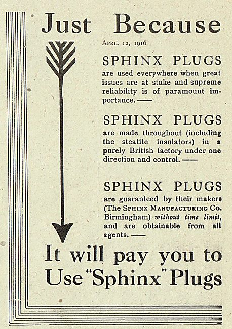 Sphinx Sparking Plugs