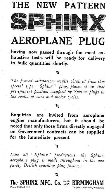 The New Pattern Sphinx Aero Engine Sparking Plug