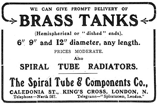 Spiral Tube Aeroplane Radiators & Brass Tanks