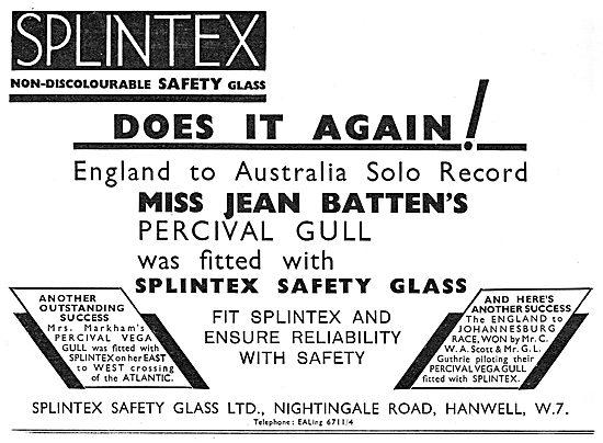 Splintex Safety Glass - Jean Batten