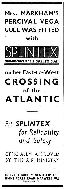 Splintex Safety Glass For Aircraft - Mrs Markham