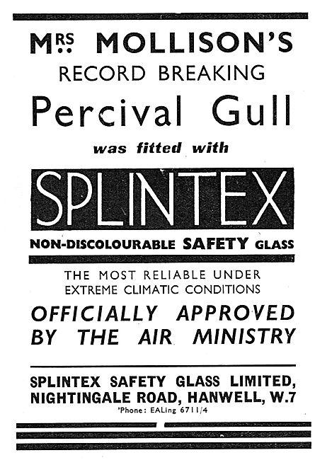 Splintex Non-Discolourable Aircraft Safety Glass: Mrs Molliso