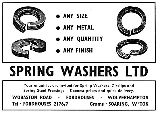 Spring Washers Ltd - Aircraft Grade Spring Washers