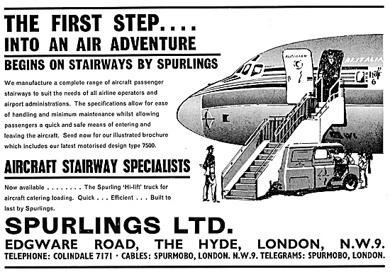 Spurlings Ground Support Equipment - Spurlings Aircraft Stairways