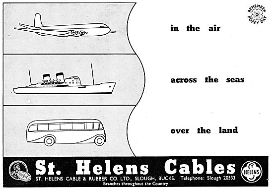 St Helens Aircraft Pren Electrical Cables