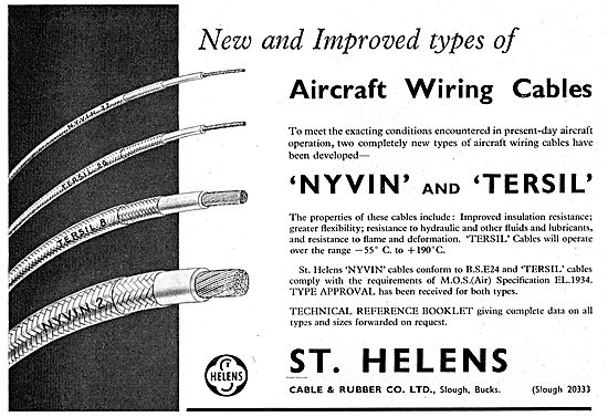 St Helens Aircraft Wiring Cables.