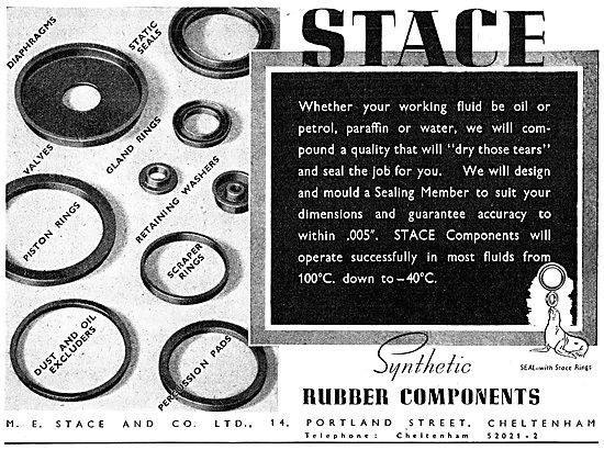 M.E.Stace & Co. Synthetic Rubber Components