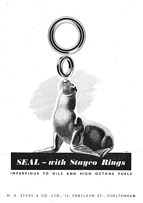 M.E.Stace & Co. Stayco Synthetic Rubber Seals