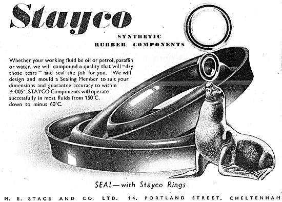 M.E.Stace & Co. Stayco Synthetic Rubber Components