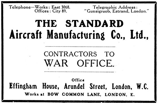 Standard Aircraft Manufacturing Company - 1916