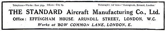 Standard Aircraft Manufacturing - Aircraft Components
