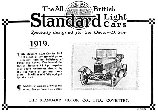 Standard Motor Cars.  1919