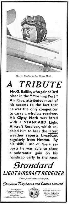 G.Baillie Endorses The Standard Light Aircraft Wireless Receiver