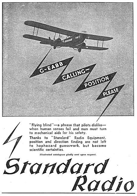 Standard Radio Aircraft & Aerodrome Radio Direction Finding Eqpt