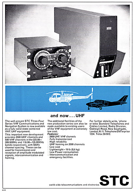 Standard Radio STC UHF Communication & Navigation Equipment