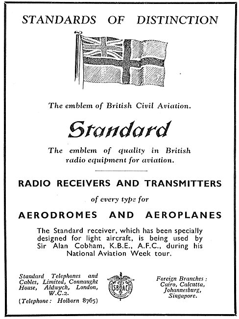 Standard Radio Receivers & Transmitters For Aerodromes & Aircraft
