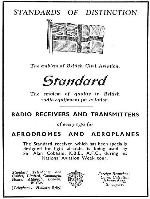 Standard Radio Receivers & Transmitters For Aerodromes & Aircraft