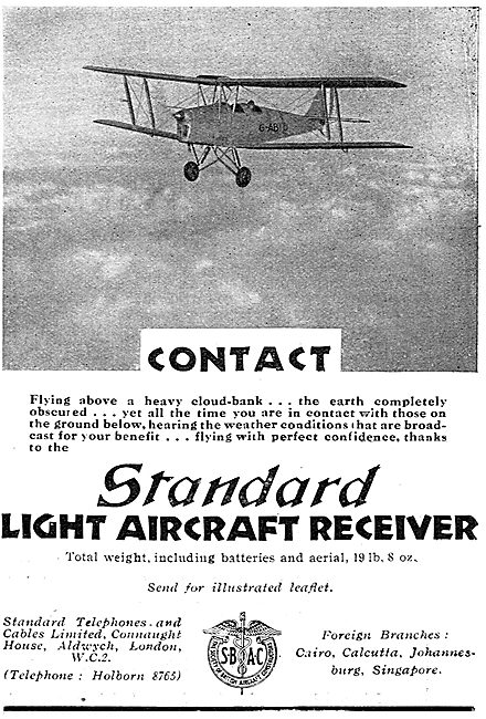 Standard Radio Light Aircraft Receivers
