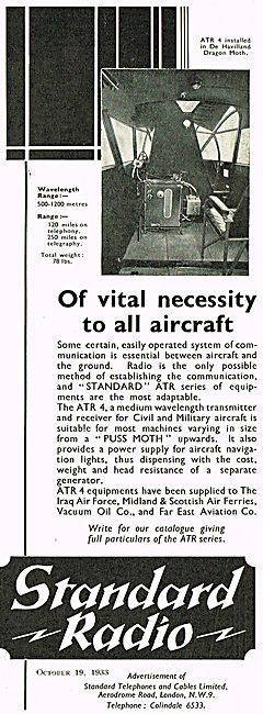 Standard Radio ATR4 In DH Dragon Moth
