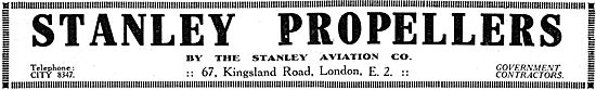 Stanley Aviation - WW1 Stanley Propellers