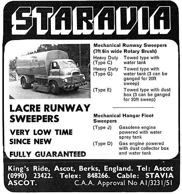 Staravia Lacre Runway Sweepers 1980
