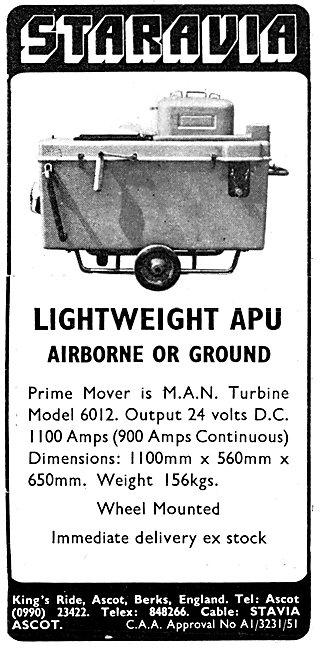 Staravia Lightweight APU Airborne Or Ground. M.A.N. APU