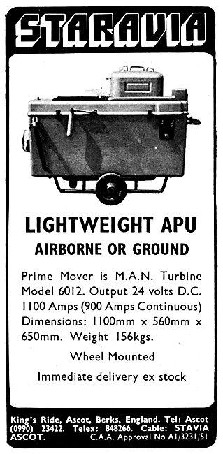Staravia Aircraft Handling Equipment M.A.N. 6012 APU