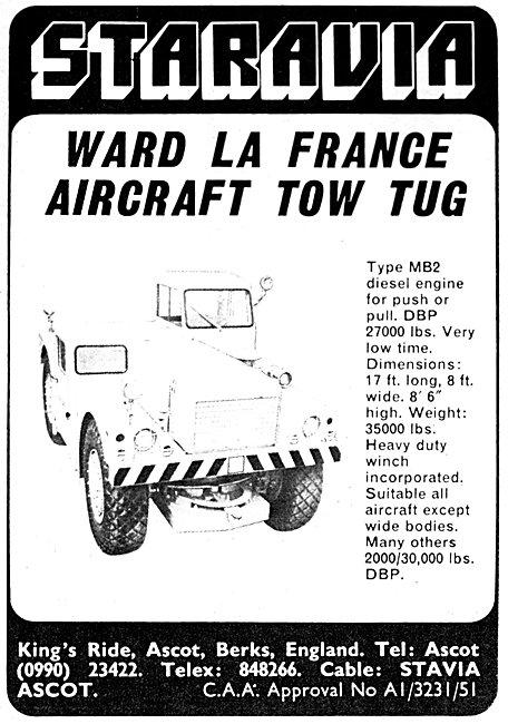 Staravia Aircraft Handling Equipment Ward La France Aircraft Tug
