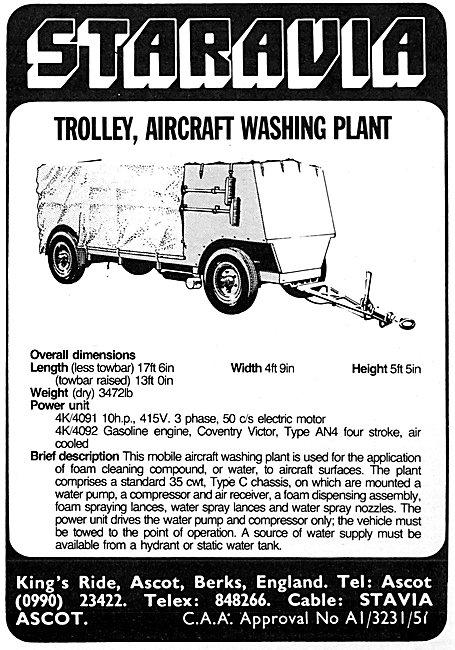 Staravia Aircraft Washing Plant Trolley
