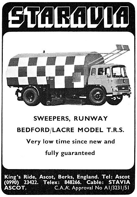 Staravia. Support Vehicles. Bedford Lacre TRS Runway Sweeper