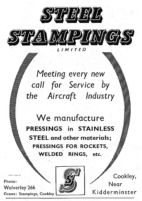 Steel Stampings Ltd Stainless Steel Pressings For Aircraft