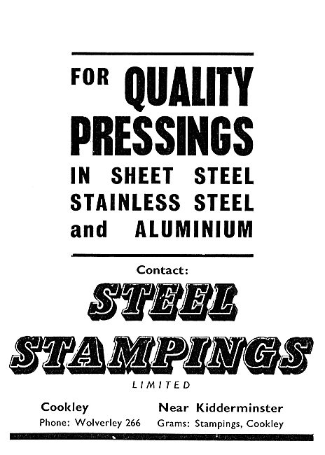 Steel Stampings Ltd - Quality Pressings In Steel & Aluminium
