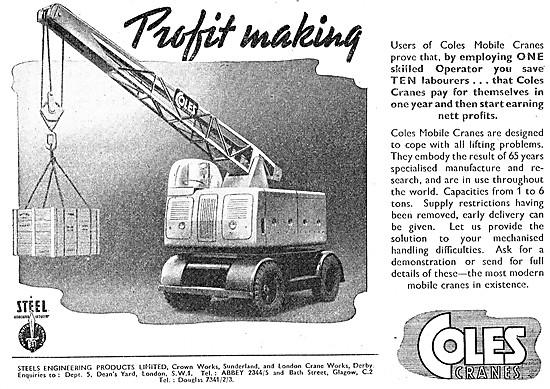 Steels Engineering Products Coles Cranes