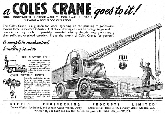 Steels Engineering Products Coles Cranes