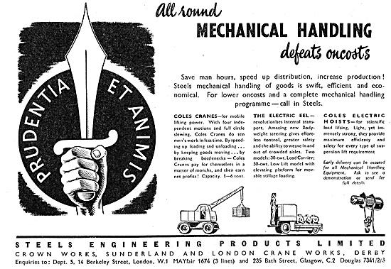 Steels Engineering Products Coles Cranes - Electric Eel