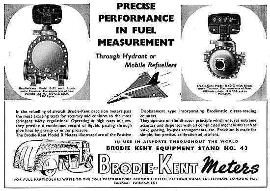 Stemco. Distributors For Brodie-Kent Aircraft Refuelling Meters