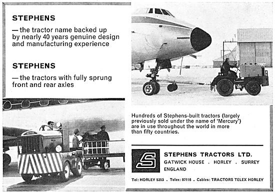 Stephens Aircraft Tugs & Airfield Tractors. Mercury Tugs