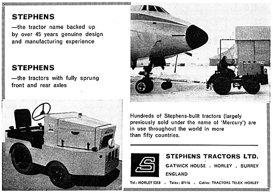 Stephens Aircraft Tugs & Airfield Tractors. 1967