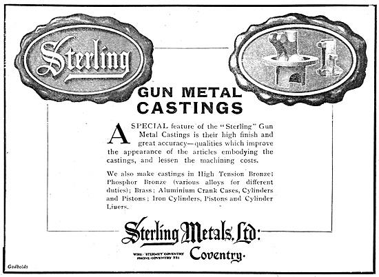 Sterling Metals Gun Metal Castings  1918