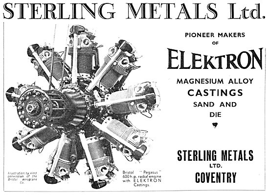 Sterling Metals Elektron Magnesioum Alloy Castings