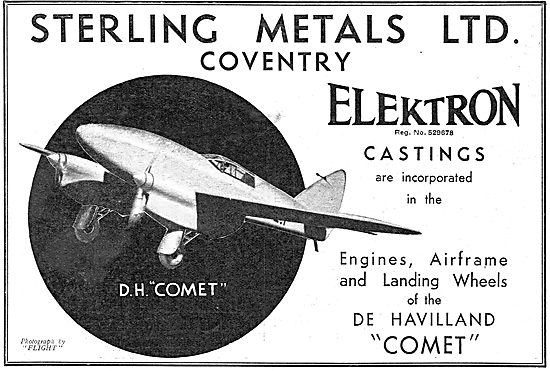 Sterling Metals Coventry - Elektron Castings: DH Comet