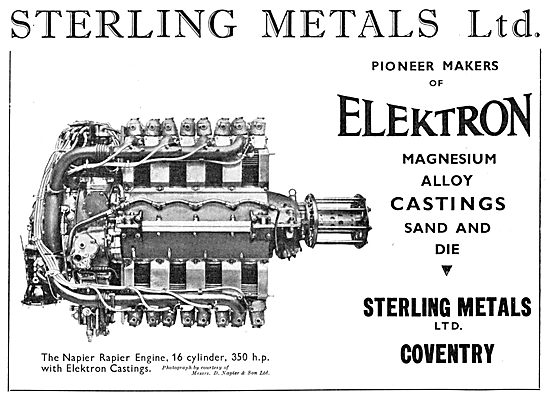 Sterling Metals Coventry - Elektron Castings 1934