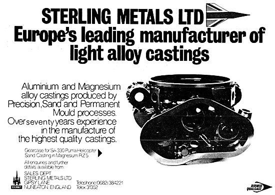 Sterling Metals Light Alloy Castings 1980
