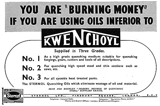 Sternol Quenching Oil. Kwenchoyl