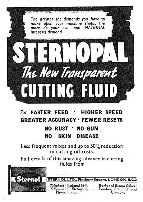 Sternol Sternopal Metal Cutting Fluid