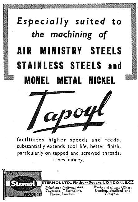 Sternol - Tapoyl Machine Tool Cutting Fluid