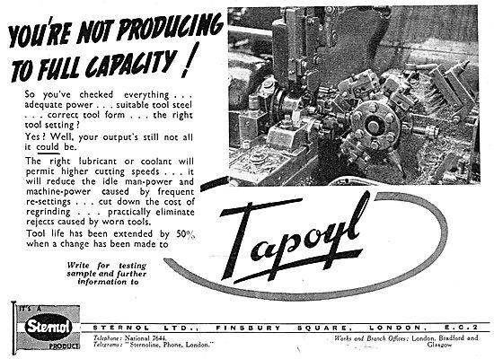 Sternol Machine Tool Cutting Lubricants - TAPOYL