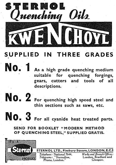Sternol Quenching Oils Kwenchoyl